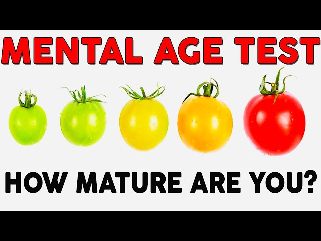 Play this video Mental Age Test  - What Is Your Mental Age?  Personality Test  Mister Test