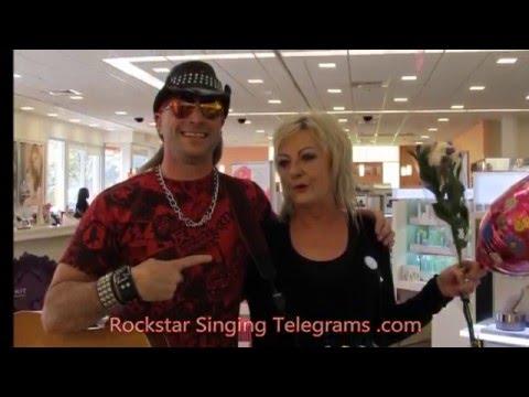 Leslie Gets a Rockstar Singing Telegram