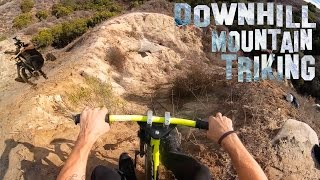 DOWNHILL MOUNTAIN TRIKING | FREERIDING A DRIFT TRIKE