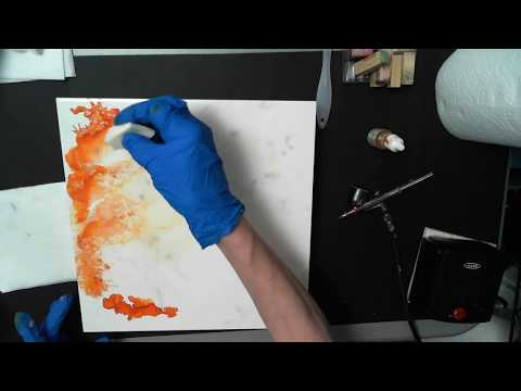 ALCOHOL INKS TILE 2 CAMERA FAIL WITH BONUS FOOTAGE I DIDN'T KNOW WAS RECORDING!