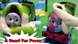 "Tomy Plarail Thomas ""A Scarf for Percy"" トーマス プラレール ガチャガチャ パーシーのマフラー"