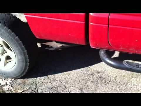 2001 Dodge Ram with boom tube straight pipe (5.2L 318)