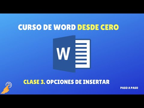 Curso de Word desde 0: clase 3 - Opciones de Insertar
