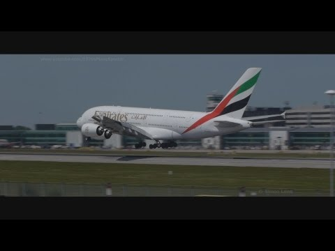 A busy morning at Manchester Airport. Long video.