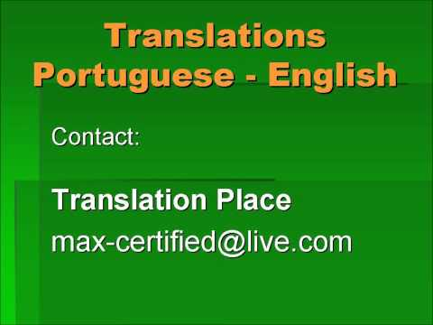 Translation Place English video