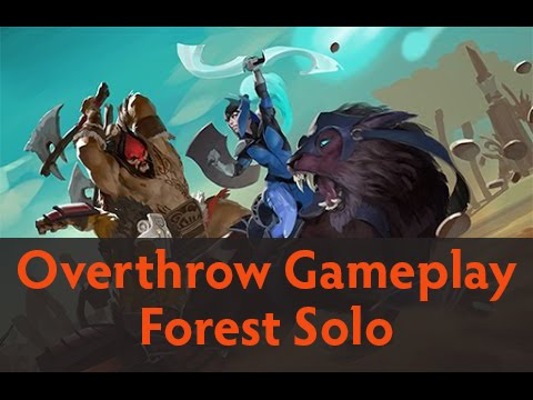 Dota 2 Custom Games - Overthrow Gameplay (Forest Solo)