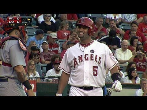 Pujols plays Cards for first time in career