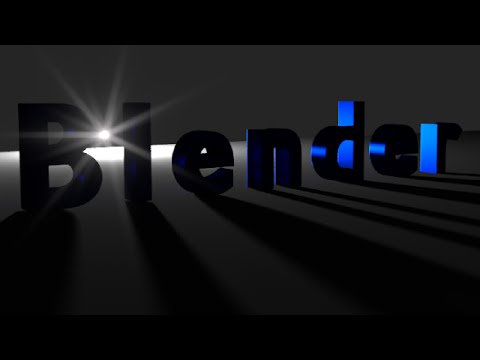 Blender Animation Tutorial: Text with Bright Background Light