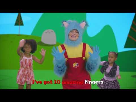 Cantando con la gatita Mitten - Canción de los dedos