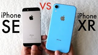 iPHONE XR Vs iPHONE SE! (Should You Upgrade?) (Speed Comparison) (Review)