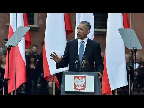 President Barack Obama condemns Russian 'agression' in Ukraine