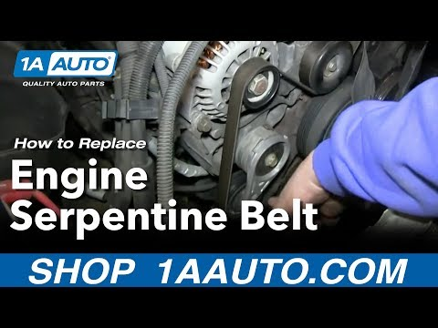 How To Install replace Vortec 5.7L V8 Engine Serpentine Belt GMC Chevy Tahoe Yukon Suburban
