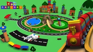 Cartoon Cartoon - Trains for Kids - Choo Choo Train - Toy Factory - Trains for Children - Toy Trains