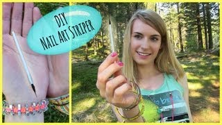 DIY Nail Art Brush! How to Make a Nail Art Striper Brush - DIY Nail Art Tools