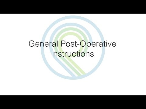 Post-Operative General Instructions | Oral Surgery & Dental Implant Center of Panama City