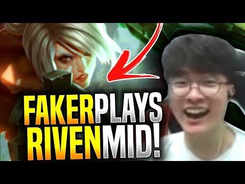 Faker Plays Riven Mid Again! - SKT T1 Faker Picks Riven Mid! | SKT T1 Replays