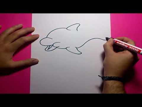 Como dibujar un delfin paso a paso 2 | How to draw a dolphin 2