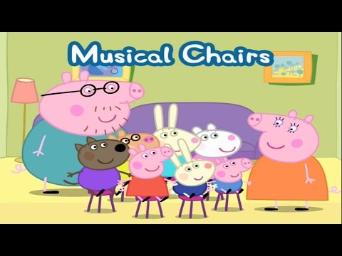 ☀ Peppa Pig's Party Time – Musical Chairs ☀ Peppa Pig Musical Chairs ☀ Best iPad app demo for kids