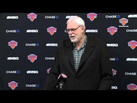 Phil Jackson On Melo's Knee Surgery, Trade Deadline, and Future For Knicks