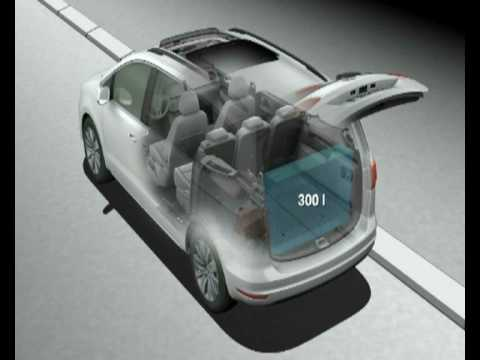 volkswagen sharan animation interior flexibility youtube