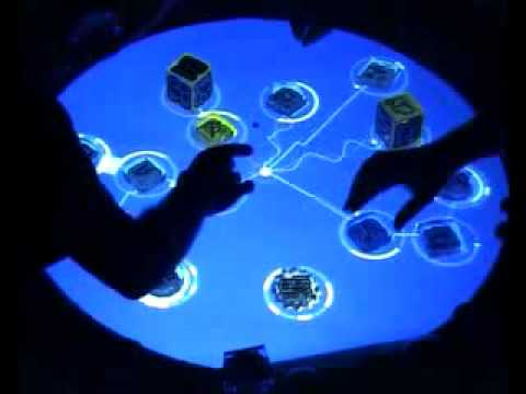 Reactable -  Bjork - Collaborative Tangible Interface
