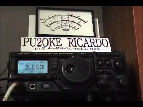 FIRST QSO PU2OKE X R7AA 28 MHZ SSB MODE