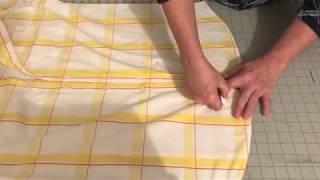 How to shorten a man's dress shirt