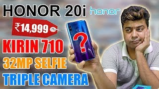 HONOR 20i Unboxing | Review In Hindi | Krin 710 | 32 MP Selfie | Triple Cameras | Giveaway