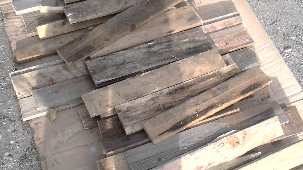 Spiritodilegno tutorial come recuperare bancali legno video 8 youtube - Mobili con legno riciclato ...