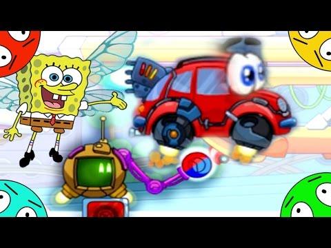 🐾 Машинка Вилли и Губка Боб #5! Путешествие в будущее ! Мультик Игра. Wheely 4.