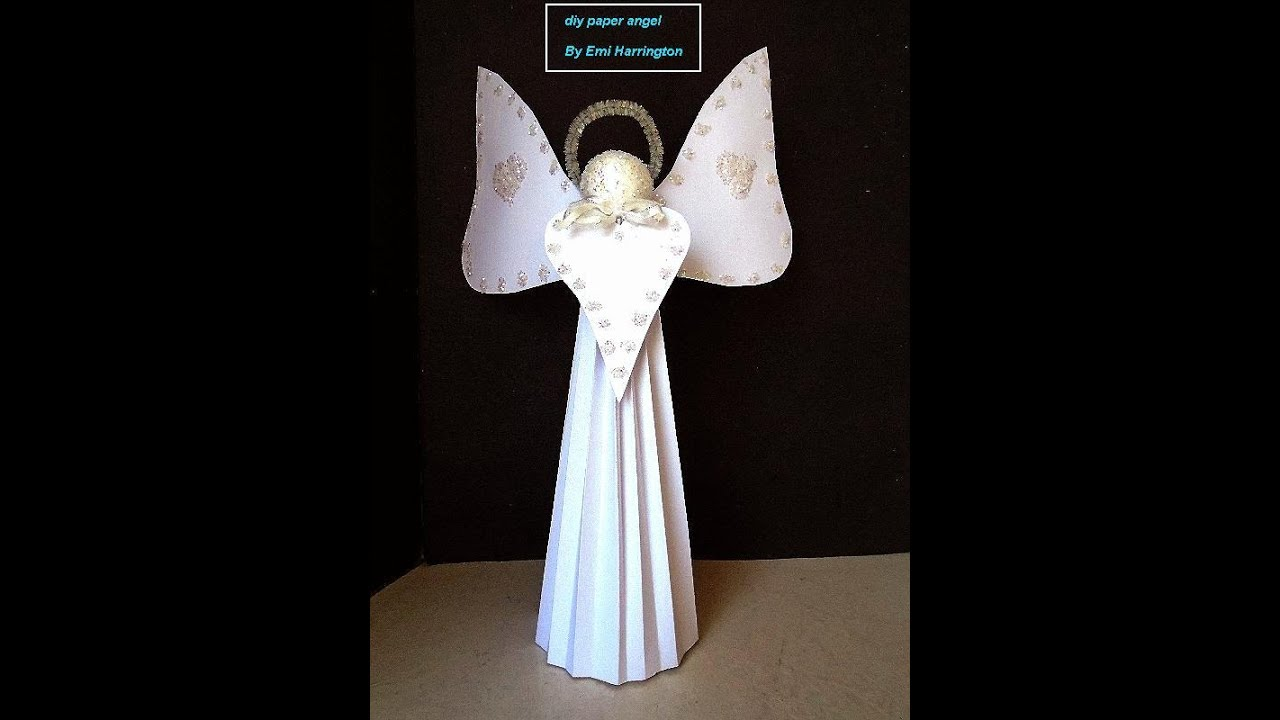 Christmas Crafts Paper Angels : Diy cardstock paper angel easy christmas