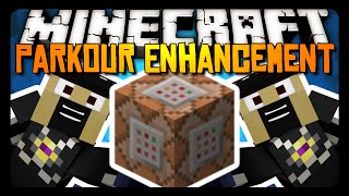 Minecraft: WALLRUNNING & DOUBLE JUMPING w/ ONE COMMAND BLOCK! (Parkour Enhancement Suite)