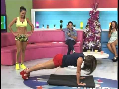 Cynthia De Recalde y Kurupi Fitness en el programa