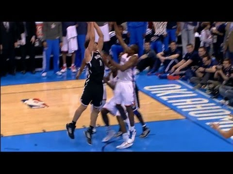 Brook Lopez Dunks on Serge Ibaka