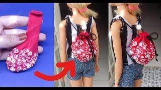 DIY How to make a doll backpack / Cách đơn giản để làm túi rút dây cho búp bê / Ami DIY