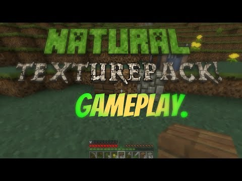 Minecraft - Natural Texture Pack PC Gameplay! (DOWNLOAD LINK IN DESC)