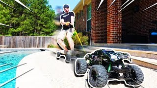 WORLD'S BIGGEST RC CAR TOWING ME!!