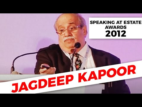 Jagdeep Kapoor speaking at Estate Awards 2012