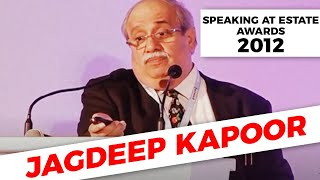 Jagdeep Kapoor speaking at Estate Awards