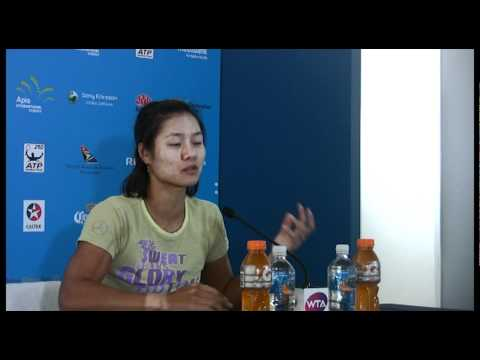 Li Na semifinals press conference Apia International Sydney 2012