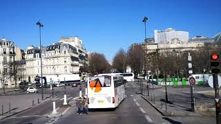 City bus tour in Paris - February 2018