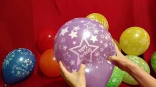 LOTS OF HAPPY BIRTHDAY BALLOONS POP!