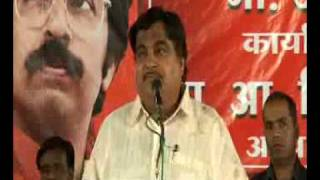 Uddhav Thackeray  Nitin Gadkari 11 April 2009 Hingane chalo Delhi part1