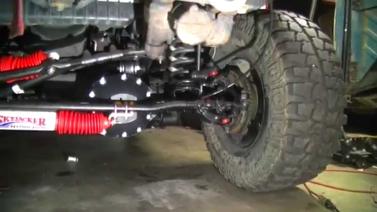 Diy Jeep Dual Steering Stablizer Shock Install Youtube
