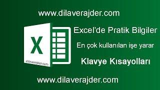 Excele yeni başlayanlara için kolay pratik bilgiler, püf noktaları ve klavye kısayolları