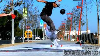Slow Motion Skateboard Tricks with Chalk