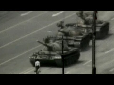 The Lone Tank man from Tiananmen Square