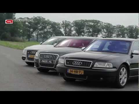 Audi S8: 3 generations sound & driving!