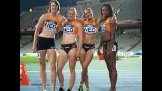 Barcelona 2012 4x100 girls World junior championships SF 1