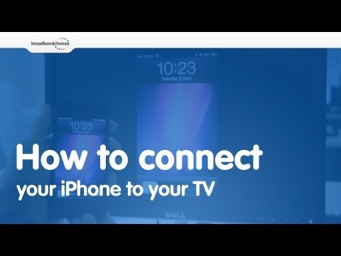 How to connect your iPhone 4/4s/5 to your TV